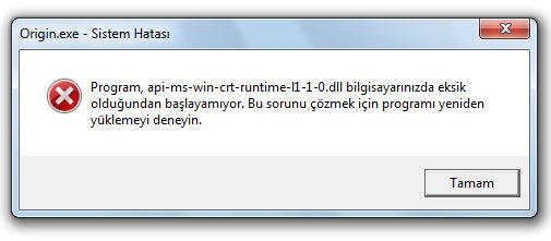 Origin PC Programında DLL Uyarıları Nasıl Düzeltilir?