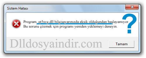 qt5svg.dll - DLL Dosya İndir