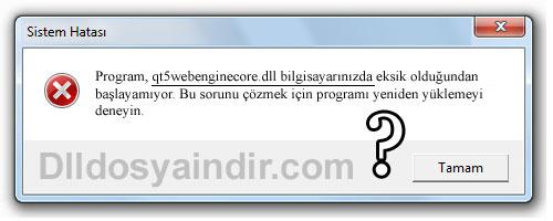 qt5webenginecore.dll - DLL Dosya İndir